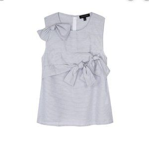 Black and White Top with Knots S Banana Republic